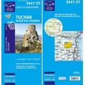 Carte de randonnée TOP25 IGN 2447OT TUCHAN Massif des Corbières
