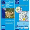 Carte de randonnée TOP25 IGN 2449OT CERET Amélie-Les-Bains