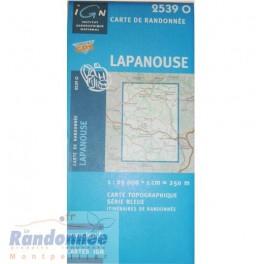 Carte de randonnée SERIE BLEUE IGN 2539O LAPANOUSE