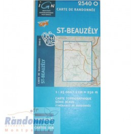 Carte de randonnée SERIE BLEUE IGN 2540O ST BAUZELY