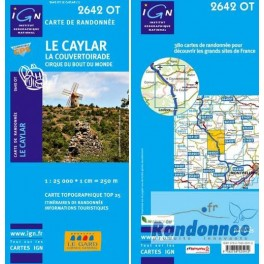 Carte de randonnée TOP25 IGN 2642 OT LE CAYLAR