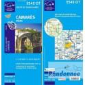Carte de randonnée TOP25 IGN 2542OT CAMARES AVENE