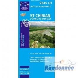 Carte de randonnée  TOP25 IGN 2545OT ST-CHINIAN L'ETANG DE MONTADY