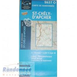 Carte de randonnée SERIE BLEUE IGN 2637O ST-CHELY-D'APCHER