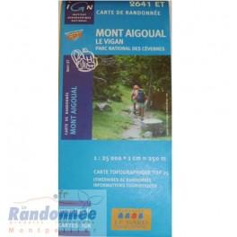 Carte de randonnée TOP25 IGN 2641ET MONT AIGOUAL Le Vigan