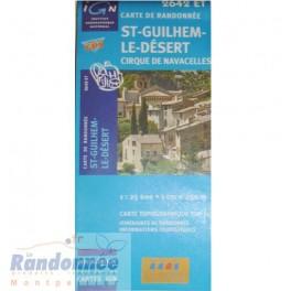 Carte de randonnée TOP25 IGN 2642ET ST-GUILHEM-LE-DESERT Cirque de navacelles