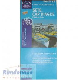 Carte de randonnée TOP25 IGN 2645ET SETE CAP D'AGDE