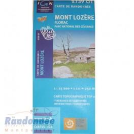 Carte de randonnée TOP25 IGN 2739OT MONT LOZERE