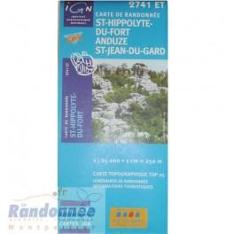 Carte de randonnée TOP25 IGN 2741ET ST-HIPPOLYTE-DU-FORT ANDUZE