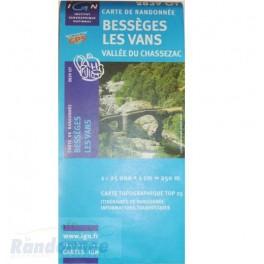Carte de randonnée TOP25 IGN 2839OT BESSEGES LES VANS