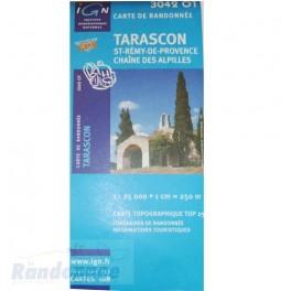Carte de randonnée TOP25 IGN 3042OT TARASCON St-Rémy-de-Provence