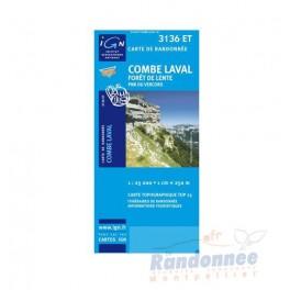 Carte de randonnée TOP25 IGN 3136ET COMBES LAVAL