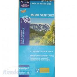 Carte de randonnée TOP25 IGN 3140ET MONT VENTOUX