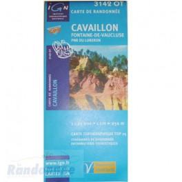 Carte de randonnée TOP25 IGN 3142OT CAVAILLON Fontaine-de-Vaucluse