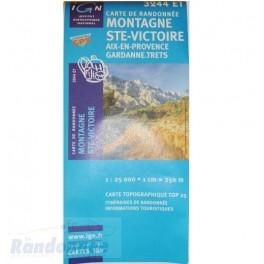 Carte de randonnée TOP25 IGN 3244ET MONTAGNE STE-VICTOIRE