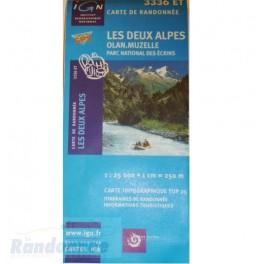 Carte de randonnée TOP25 IGN 3336ET LES DEUX ALPES PN des Ecrins