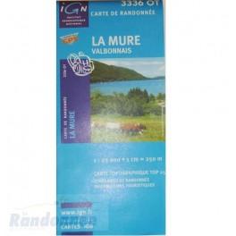 Carte de randonnée TOP25 IGN 3336OT LA MURE Valbonnais