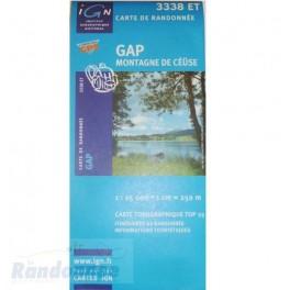 Carte de randonnée TOP25 IGN 3338ET GAP Montagne de Céüse