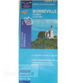Carte de randonnée TOP25 IGN 3429ET BONNEVILLES CLUSES