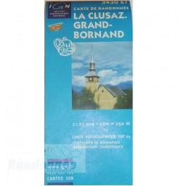 Carte de randonnée TOP25 IGN 3430ET LA CLUSAZ