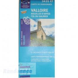Carte de randonnée TOP25 IGN 3435ET VALLOIRE Aiguilles d'Arves