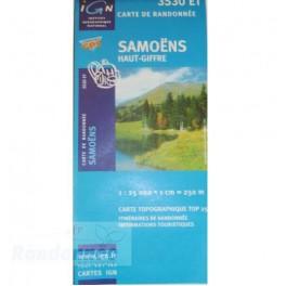 Carte de randonnée TOP25 IGN 3530ET SAMOËNS Haut-Giffre