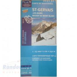 Carte de randonnée TOP25 IGN 3531ET ST GERVAIS