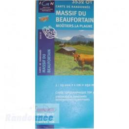 Carte de randonnée TOP25 IGN 3532OT MASSIF DE BEAUFORTIN