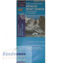 Carte de randonnée TOP25 IGN 3535OT NEVACHE MONT THABOR