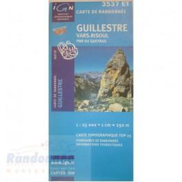 Carte de randonnée TOP25 IGN 3537ET QUEYRAS GUILLESTRE