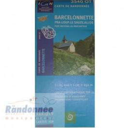 Carte de randonnée TOP25 IGN 3540OT BARCELONETTE PN du Mercantour