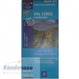 Carte de randonnée TOP25 IGN 3634OT VALCENIS