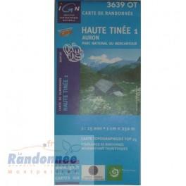 Carte de randonnée TOP25 IGN 3639OT HAUTE TINEE 1 PNR du Mercantour
