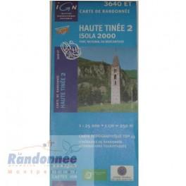 Carte de randonnée TOP25 IGN 3640ET HAUTE TINEE 2 Isola 2000