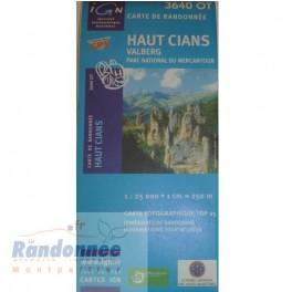 Carte de randonnée TOP25 IGN 3640OT HAUT CIANS Valberg PN du Mercantour