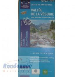 Carte de randonnée TOP25 IGN 3741OT VALLEE DE LA VESUBIE PN du Mercantour