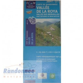 Carte de randonnée TOP25 IGN 3841OT VALLEE DE LA ROYA PN du Mercantour