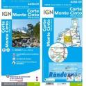 Carte de randonnée TOP25 IGN 4250OT CORTE MONTE CINTO