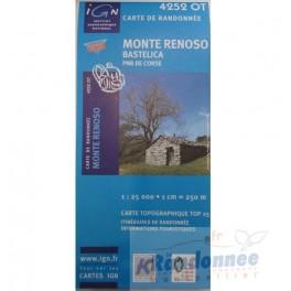 Carte de randonnée TOP25 IGN 4252OT MONTE RENOSO