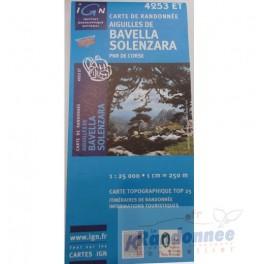Carte de randonnée TOP25 IGN 4253ET AIGUILLE DE BAVELLA