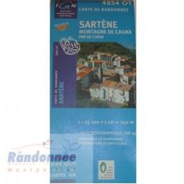 Carte de randonnée TOP25 IGN 4254OT SARTEGNE PNR de Corse