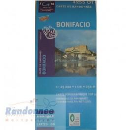 Carte de randonnée TOP25 IGN 4255OT BONIFACIO