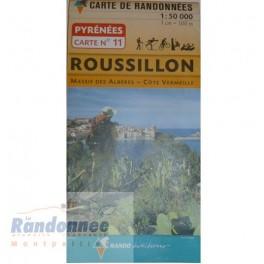 CARTE DE RANDONNEE PYRENEES N°11 ROUSSILLON Massif des Albères Côte Vermeille