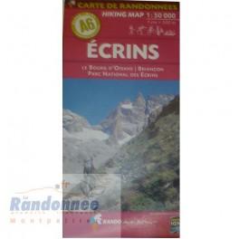CARTE DE RANDONNEE ALPES A6 ECRINS Le Bourg d'Oisans Briançon PN des Ecrins