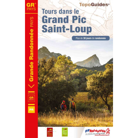Topo Guides FFRP Tour dans le Grand Pic Saint-Loup.