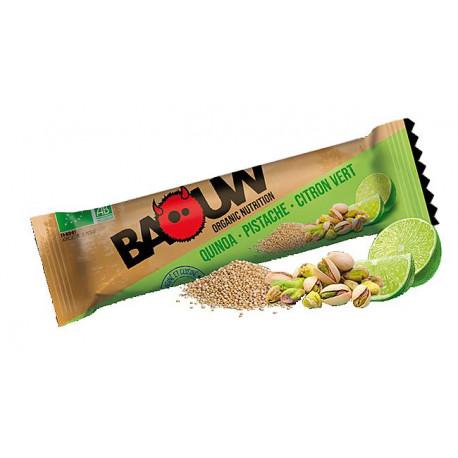 Baouw Quinoa Pistache Citron Vert Boîte 3 barres.